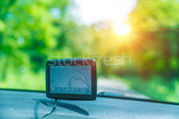 Gps carro bom ajudar encontrar necessário Foto stock © Anna_Om