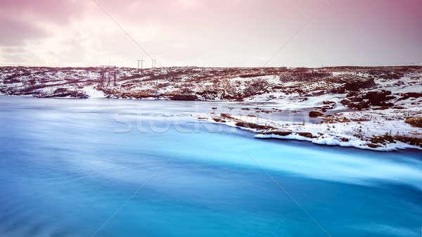Foto d'archivio: Bella · Islanda · panorama · pacifica · inverno · panorama