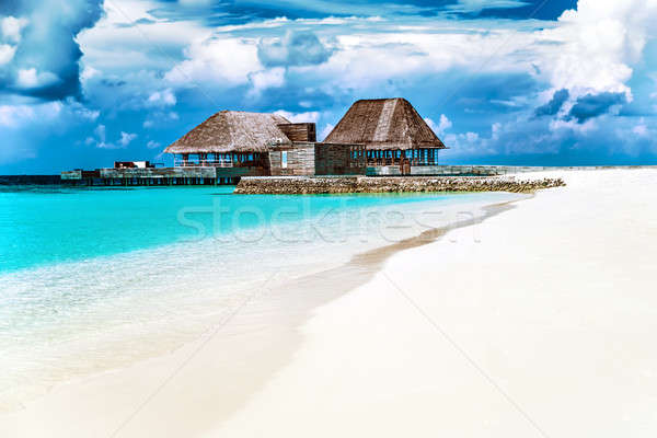 Maldives beach resort Stock photo © Anna_Om