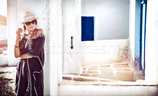Pretty girl in Greece Stock photo © Anna_Om