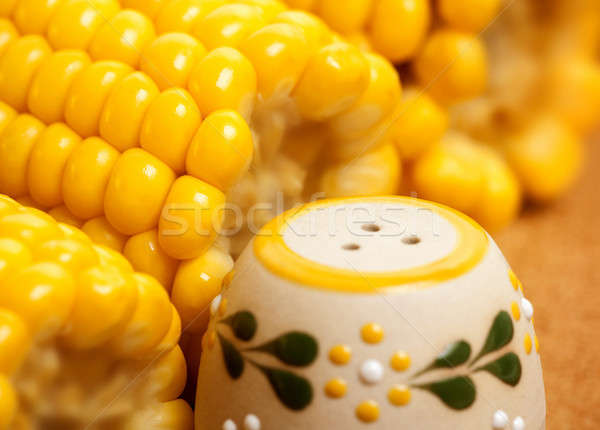 Maize with salt Stock photo © Anna_Om