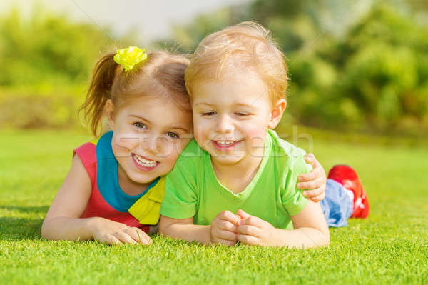 Stock photo: Happy children in park