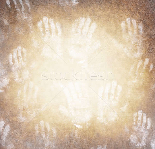 Human handprint background Stock photo © Anna_Om