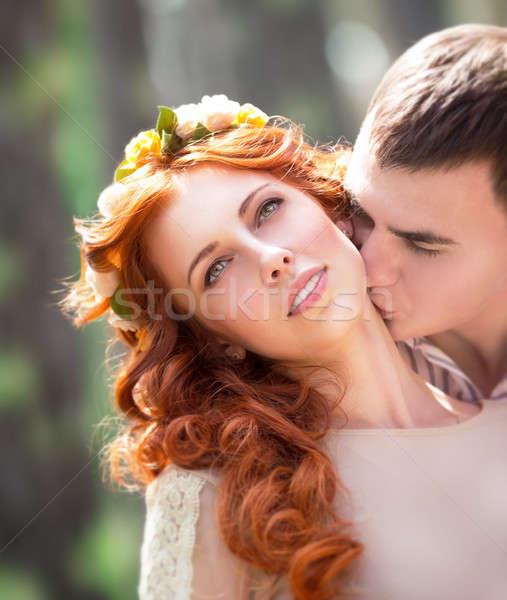 нежный любящий пару портрет красивой Сток-фото © Anna_Om