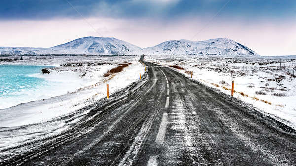 Stock photo: Iceland snowy landscape