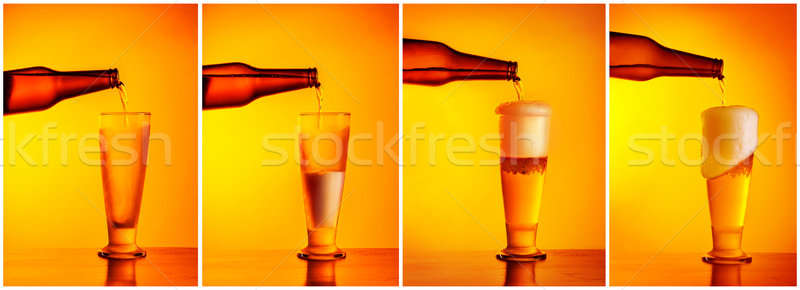 Pouring beer sequence collage Stock photo © Anna_Om