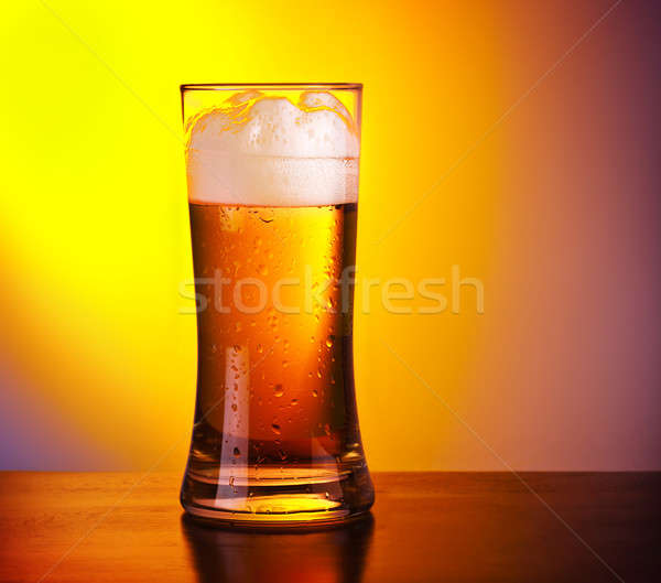 Glass of refreshing beer Stock photo © Anna_Om