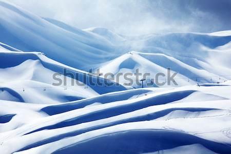 Inverno montagna panorama alto neve blizzard Foto d'archivio © Anna_Om