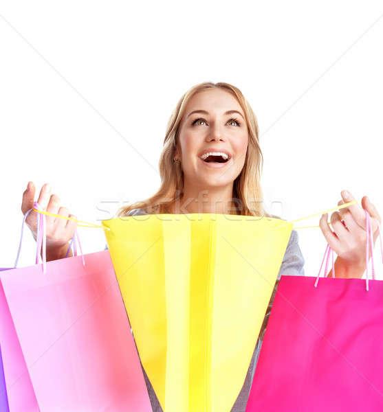 Happy girl shopping Stock photo © Anna_Om