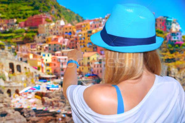 Italian oraş înapoi lateral Imagine de stoc © Anna_Om