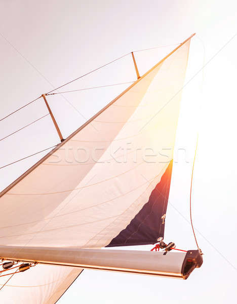 Sail over sunset sky  Stock photo © Anna_Om
