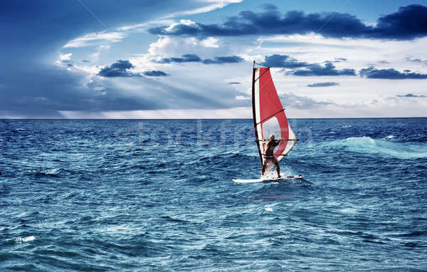 Windsurfer in the sea Stock photo © Anna_Om