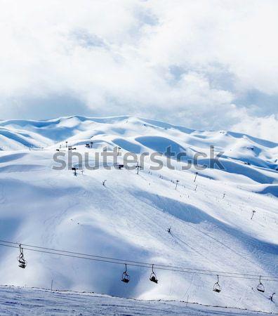 Winter Berg Ski Resort Landschaft Schnee Stock foto © Anna_Om