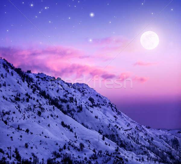 Snowy mountains Stock photo © Anna_Om