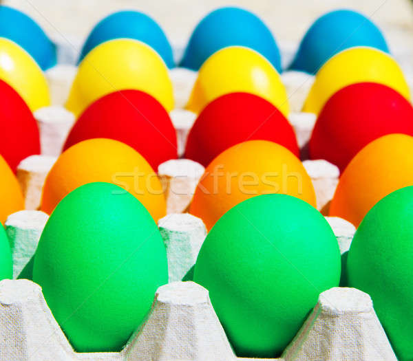 цветами Пасху яйца счастливым праздник куриные Сток-фото © Anna_Om
