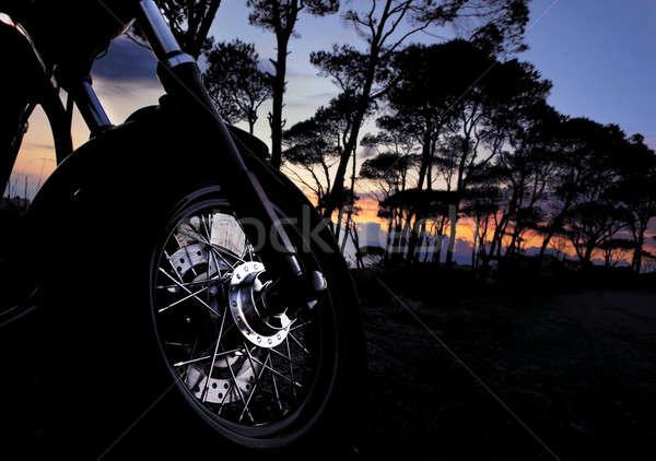 Motorbike at night Stock photo © Anna_Om