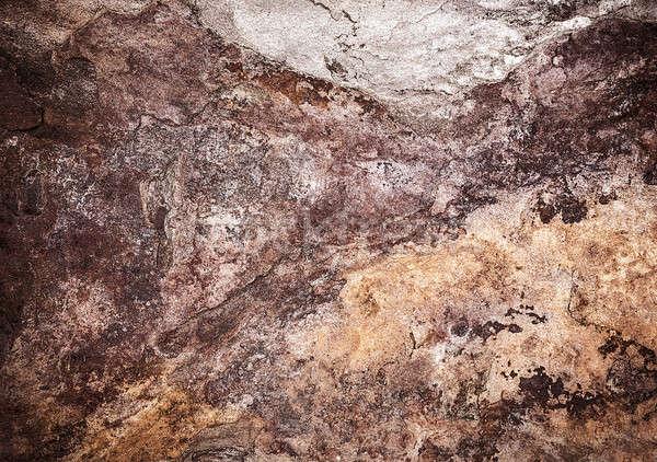 Absztrakt csempe grunge barna kő textúra Stock fotó © Anna_Om