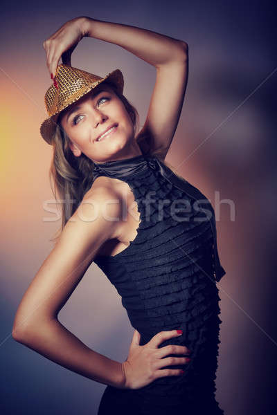 Mooie danser meisje stijlvol jurk Stockfoto © Anna_Om