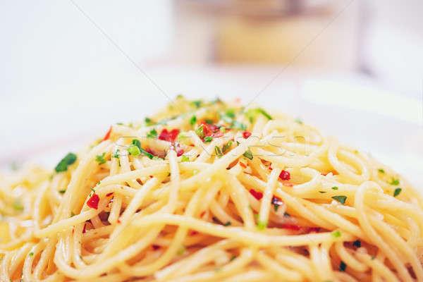 Smakelijk vegetarisch pasta gekookt groot Stockfoto © Anna_Om