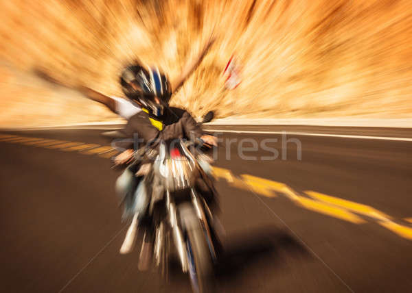 Abstract photo of riders Stock photo © Anna_Om
