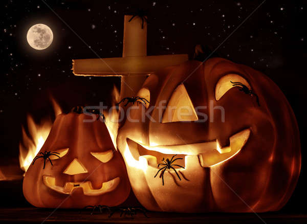 Creepy Halloween night Stock photo © Anna_Om