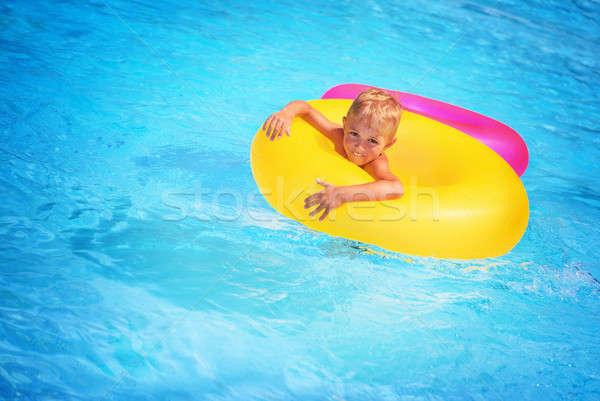 Happy boy in swimming pool Stock photo © Anna_Om
