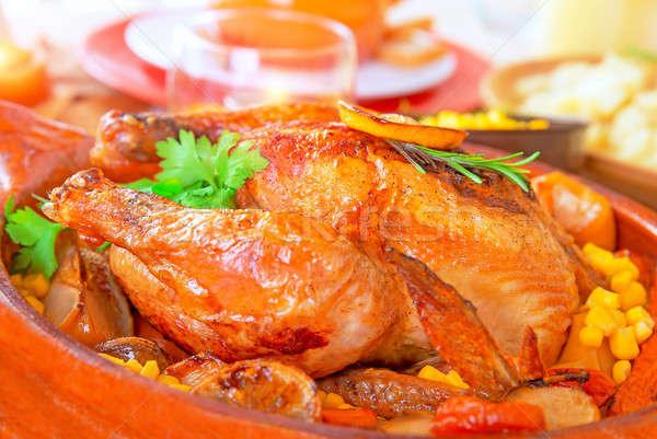 Delicious Thanksgiving turkey Stock photo © Anna_Om