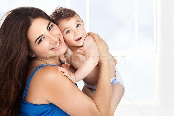 Anne küçük oğul genç sevimli Stok fotoğraf © Anna_Om