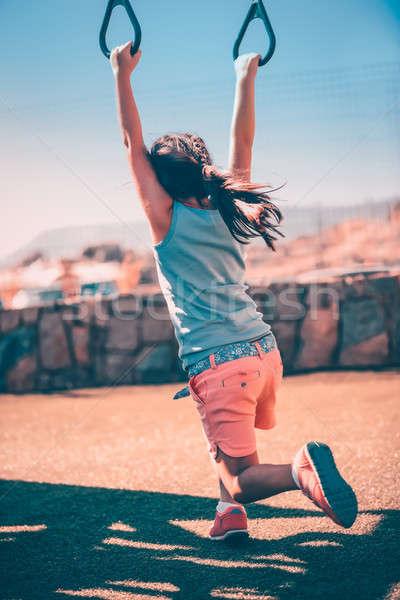 Little girl recreio esportes ao ar livre menina Foto stock © Anna_Om