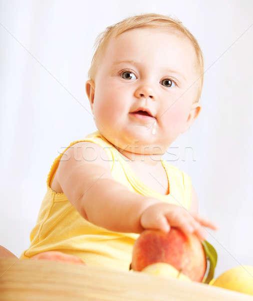 ストックフォト: かわいい · 赤ちゃん · 果物 · 幸せ