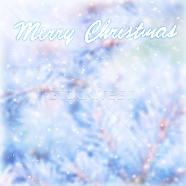 Marry Christmas blur greeting card Stock photo © Anna_Om