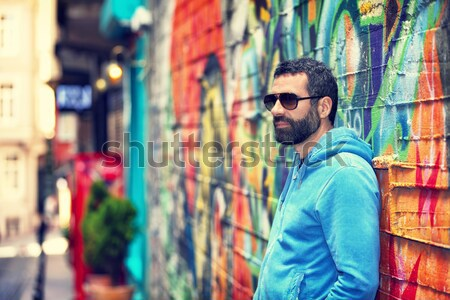 Stylish guy on the street Stock photo © Anna_Om