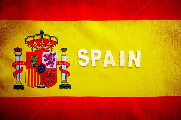 Spanish flag Stock photo © Anna_Om