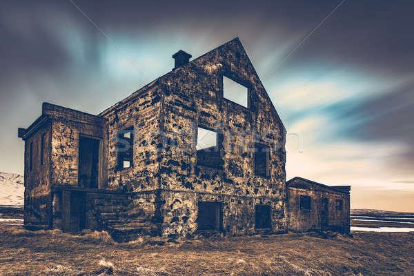 Old damaged house Stock photo © Anna_Om