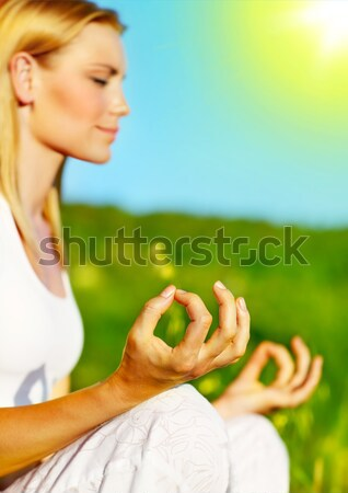 Yoga meditation outdoor Stock photo © Anna_Om