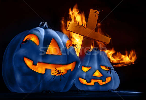 Traditional Halloween decorations Stock photo © Anna_Om
