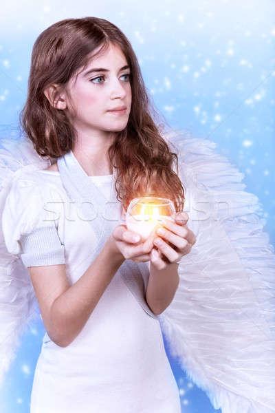 Pretty angel Stock photo © Anna_Om
