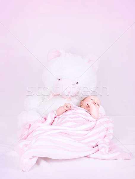 Cute little newborn girl Stock photo © Anna_Om