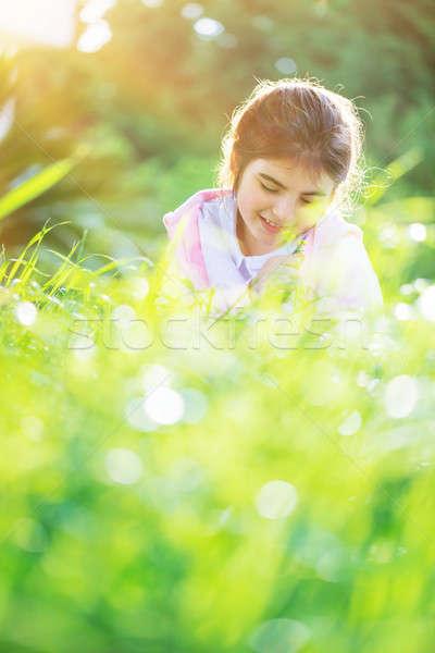 девочку весны области фото Nice Сток-фото © Anna_Om