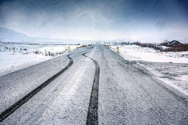 Pusty autostrady piękna krajobraz zdumiewający panoramiczny Zdjęcia stock © Anna_Om
