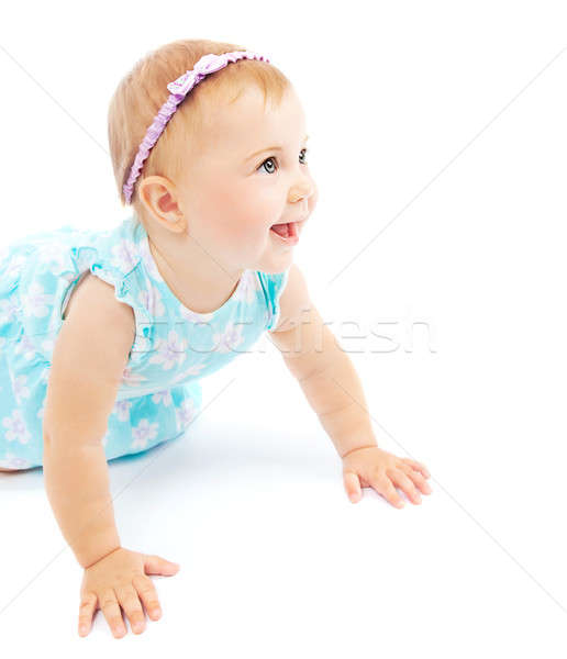 Adorable little baby girl laughing Stock photo © Anna_Om