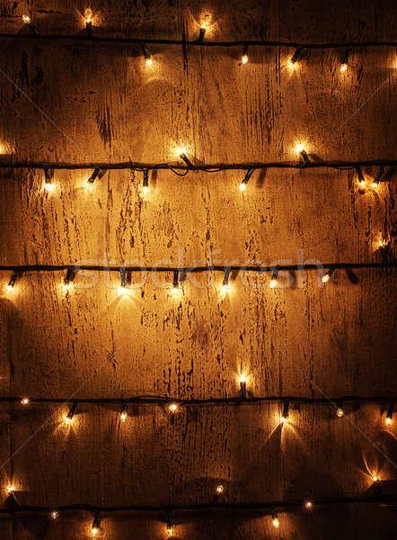 Christmas lights background Stock photo © Anna_Om
