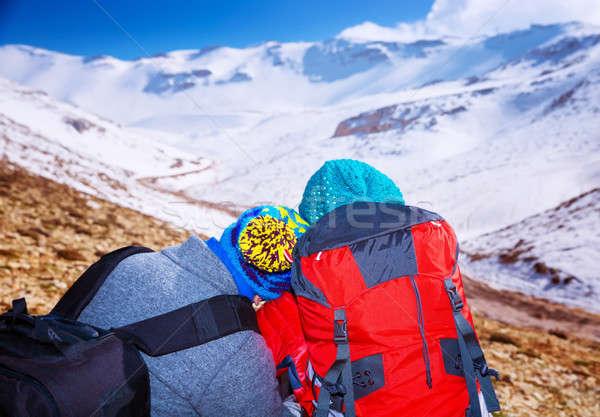 Romantic extreme winter vacation Stock photo © Anna_Om
