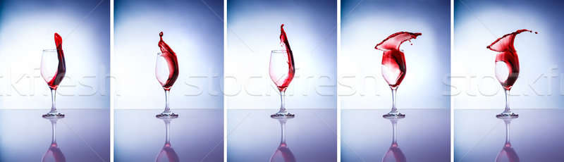 Collage of wine glasses Stock photo © Anna_Om