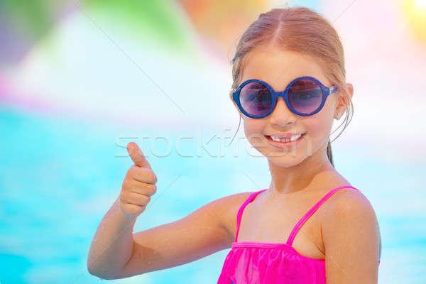 Ragazza felice spiaggia ritratto cute piccolo sorridere Foto d'archivio © Anna_Om