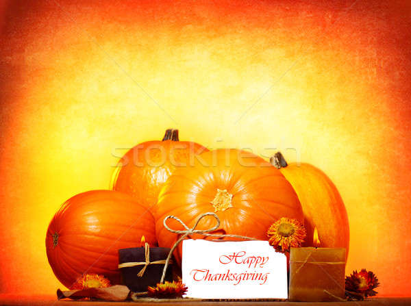 Happy thanksgiving day Stock photo © Anna_Om