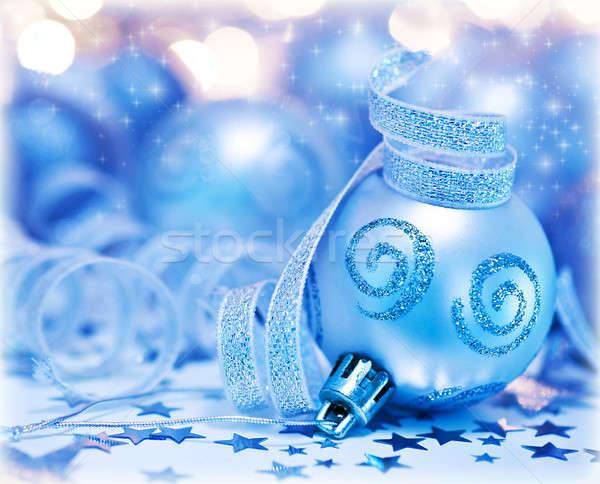 Weihnachtsbaum Spielerei Ornament Dekoration bokeh abstrakten Stock foto © Anna_Om