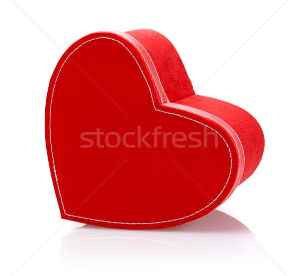 Stok fotoğraf: Kırmızı · sunmak · kutu · resim · güzel · yalıtılmış