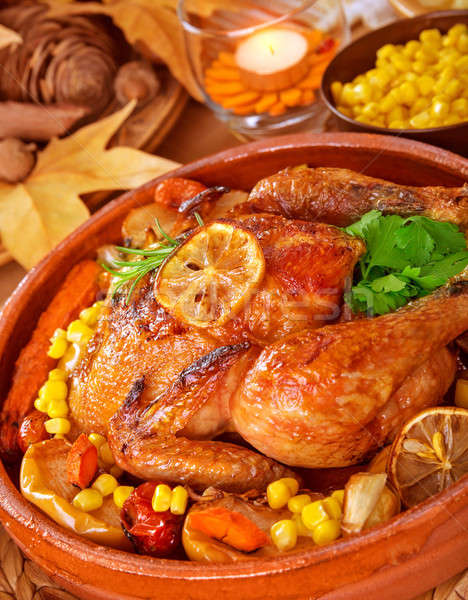 Thanksgiving dinner Stock photo © Anna_Om