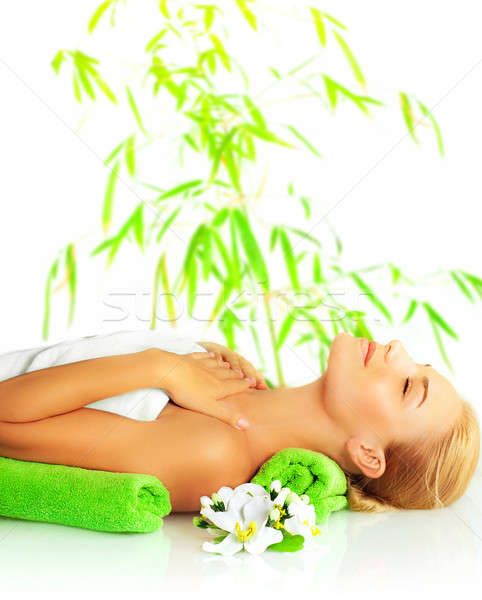 Woman in spa salon Stock photo © Anna_Om